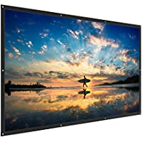 TaoTronics Projector Screen 120 inch 16:9 Ratio Foldable Anti-Crease Portable Movies Screen for Outdoors & Indoors (1.1 Gain, 160° Viewing Angle & Includes a Carry Bag)