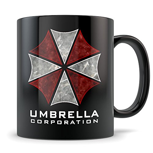 Resident Evil Mug - Umbrella Corporation Coffee Cup Movie Logo - 11 oz. Black (Resident Evil 0 Pc Costumes)