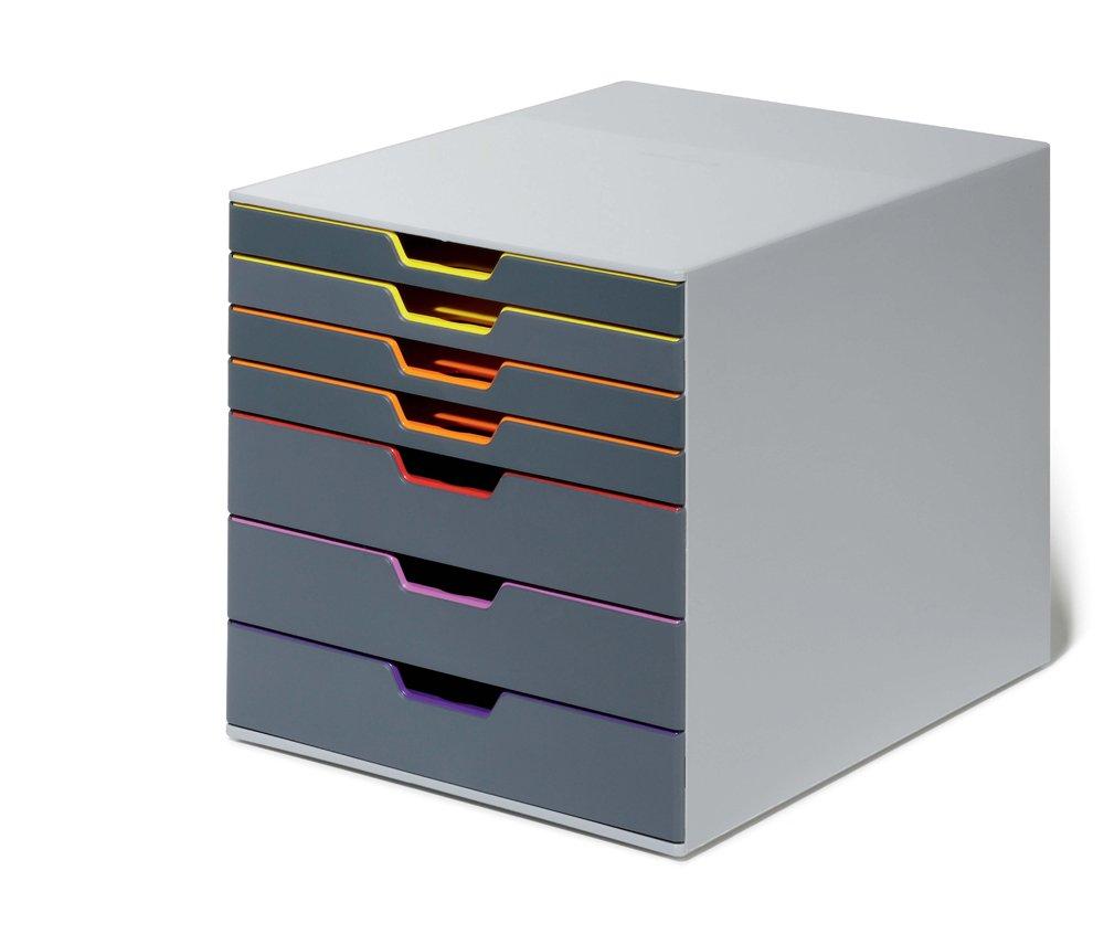 Durable 760727 - Cajonera dividida por colores (7 colores): Amazon.es: Oficina y papelería