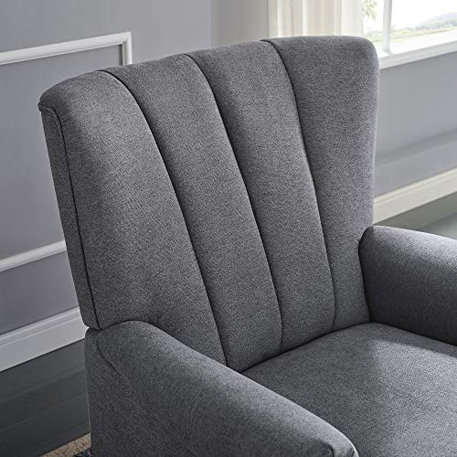 Wondrous Classic Brands David John Popstitch Upholstered Glider Swivel Rocker Chair Grey Spiritservingveterans Wood Chair Design Ideas Spiritservingveteransorg