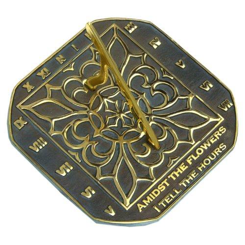 Sun Clock Sundial Verdigris - 2