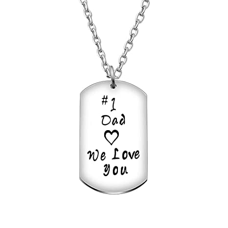 Amosfun Collar del Regalo del día del Padre papá te Amo ...