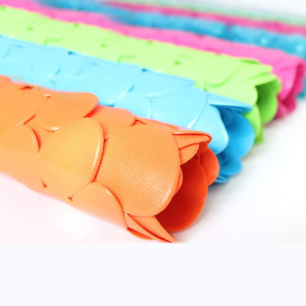 Orange Vosarea Bathroom Mat Anti-Bakterien schnell trocknend Bad Pad mit Rutschfesten Saugn/äpfen