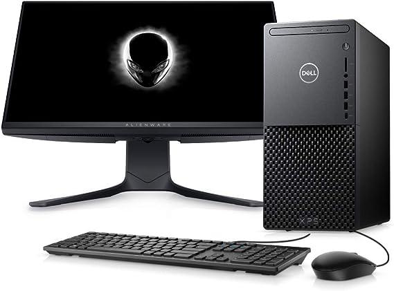 "Computador Desktop Dell XPS 8940-A40M 10ª Intel Core i7 16GB 256GB SSD+1TB HD RTX 2060 Win 10 Preto com Monitor 24.5"""