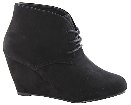 2e62e7eb4dc3 AimTrend Womens Almond Toe Lace up Ankle Booties