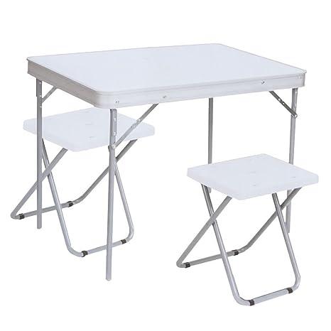 Mesa de Picnic de Camping Genérica, Mesa Plegable con 8 sillas de ...