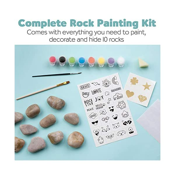 Creativity-for-Kids-Hide-Seek-Rock-Painting-Kit-Arts-Crafts-For-Kids-Includes-Rocks-Waterproof-Paint