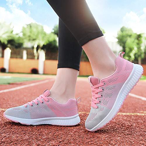 Rosado Estudiante Para Calzado 3 Riou De Mujer Atletismo Net Deporte Running Deportivas Zapatos Deportes Volar Respirable Ligero Zapatillas Correr Mecedora Cojines Aire Gimnasia Sneakers OBqvxwtFFS