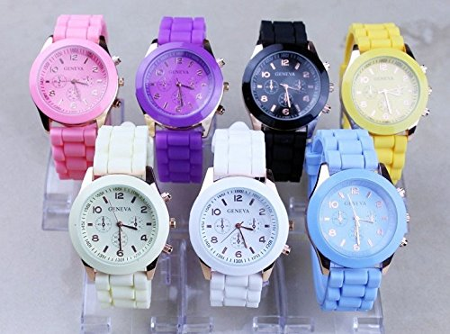 Domire Popular Silicone Quartz Men Women Girl Boy Unisex Jelly Wrist Watch