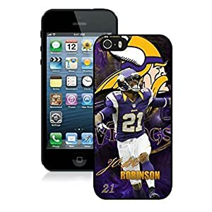 NFL Minnesota Vikings Josh Robinson iphone 5 5S Casecell phone cases&Gift Holiday&Christmas Gifts NFIU8714001 by heywan