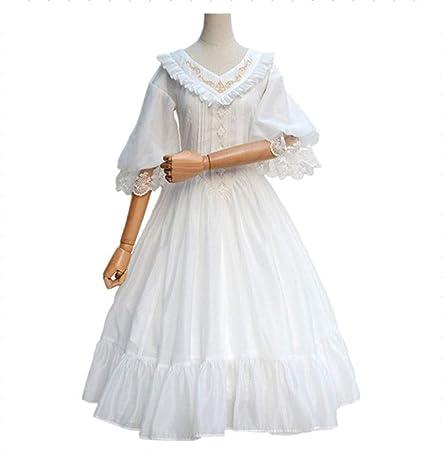 Vestido clásico clásico de la princesa Lolita con volantes ...