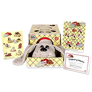 "Basic Fun Pound Puppies Classic Stuffed Animal Plush Toy - Great Gift for Girls & Boys - 17"" - Gray"