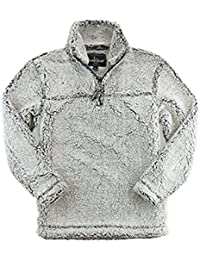 Adult Super Soft 1/4 Zip Sherpa Pullover, Frosty Grey, 3XL