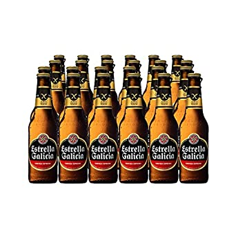 Estrella Galicia Cerveza Sin Gluten - Pack de 24 botellas x ...