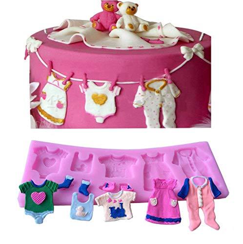 Bestjybt Silicone Baby Clothes Handmade Fondant Cake Decorating Tools DIY Mould -