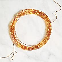 100 ft. Copper Fairy String Light with 300 Warm White Starry LEDs, Bendable Plugin Wire, Timer, Indoor/Outdoor Use, UL Listed