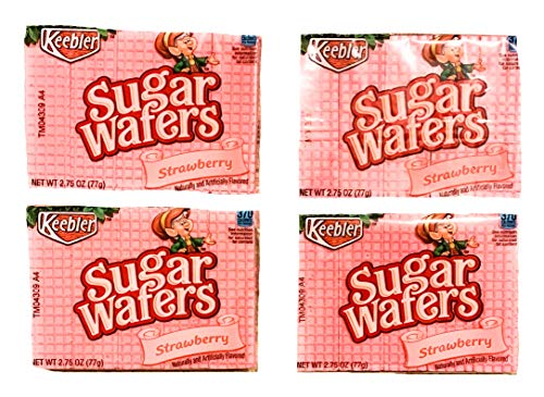 Strawberry Sugar Cookies - Keebler Strawberry Sugar Wafers 2.75 oz Size | Pack of 4