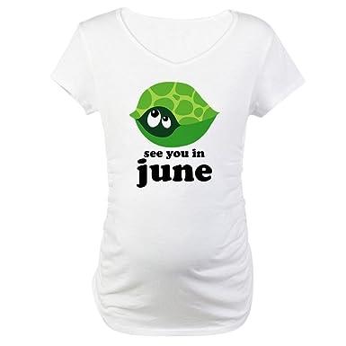 741519da6 CafePress June Baby Due Date Cotton Maternity T-shirt, Cute & Funny  Pregnancy Tee
