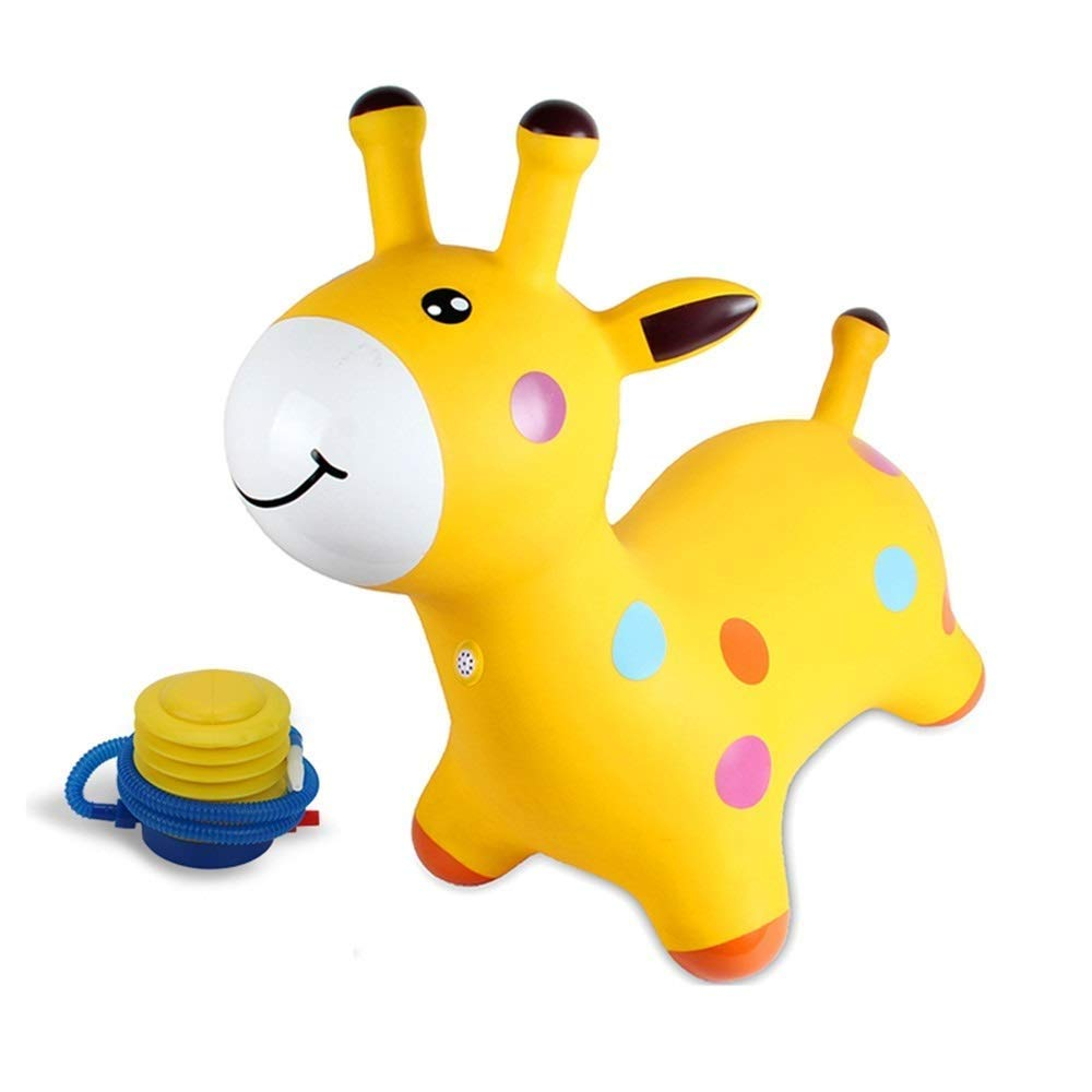 WHTBB Blue Horse Hopper,Fairy Bouncy Horse with Pump-Jumping Horses Animals Hopper-Toddlers Inflatable Toys (Color : Yellow) by WHTBB