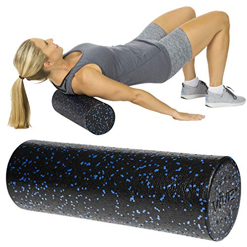 Vive Foam Roller - 12 Inch Mini Soft Massage Stick for Back, Firm Trigger Point, Yoga, Physical Therapy and Exercise - High Density Round Massager for Leg, Calf, Deep Muscle Tissue Full Body Stretch