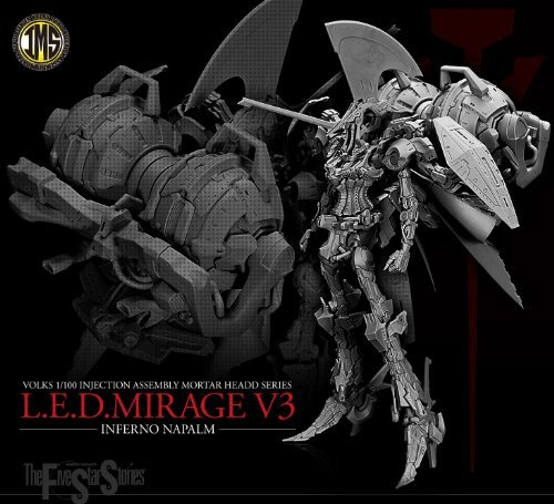 First Edition FSS IMS 1 / 100 scale L.E.D.MIRAGE V3-INFERNO NAPALM led Mirage infernonapalm