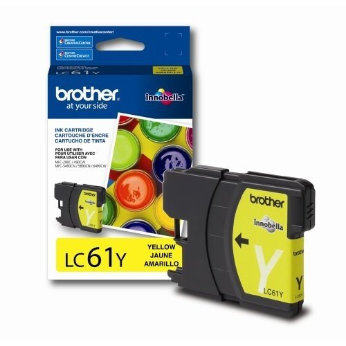 OEM Brother LC-61 4-Color Ink Cartridges (1 Black, 1 Cyan...