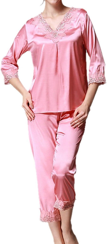 Honghu Pijama para Mujer, Juego de Pijamas de Tres Piezas de ...