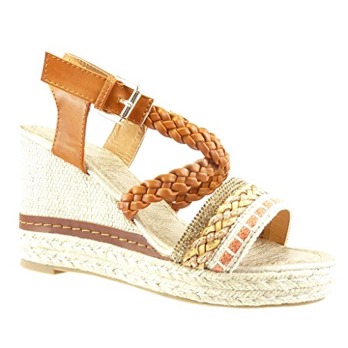 Chaussure Angkorly Sandale Espadrille Plateforme Strass Femme Mode If6bY7gvy