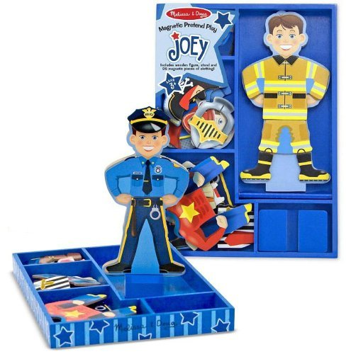 Joey - Magnetic Dress Up Wooden Doll & Stand + FREE Melissa & Doug Scratch Art Mini-Pad Bundle [35507]