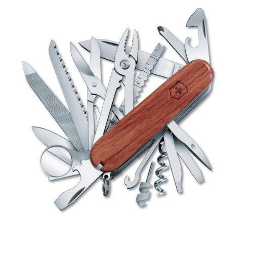 Victorinox Swiss Army SwissChamp Pocket Knife, Hardwood,One Size