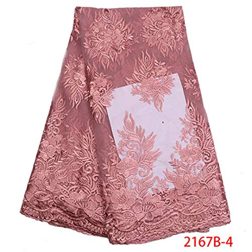 Latest Design Wine Color Lace Fabics For Wedding Party Dress African French Net Lace Fabric NA2167B-1 Picture 4