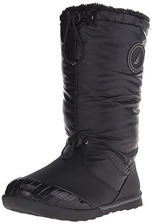 Nautica Women's Amistead Snow Boot, Black, 8 M US