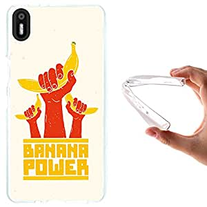 WoowCase - Funda Gel Flexible { bq Aquaris X5 } Banana Power Carcasa Case Silicona TPU Suave