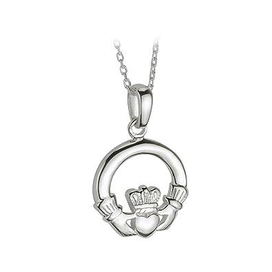 Amazon claddagh necklace medium sterling silver irish made claddagh necklace medium sterling silver irish made aloadofball Image collections