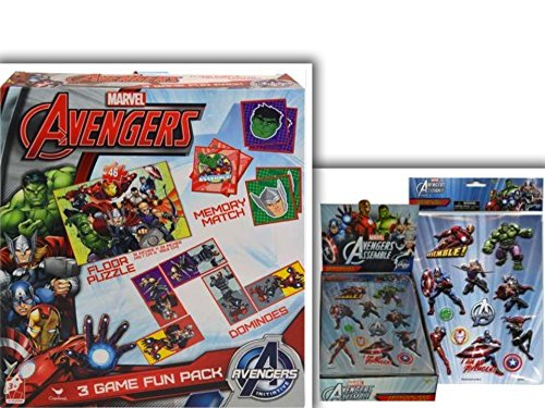 Must Have Marvel Avengers Fun Packed Bundle- 2 Items: Avengers 3 Game Fun Pack (18 x 24