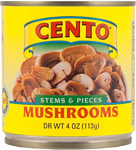 Cento Mushrooms, Stems and Pieces, 4-Ounce (Pack of 24)