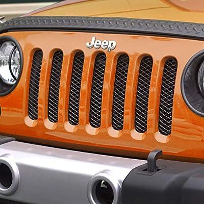 Rugged Ridge 11401.31 Gloss Black Mesh Grille Insert Screen for 2007-2020 Jeep Wrangler JK: Automotive