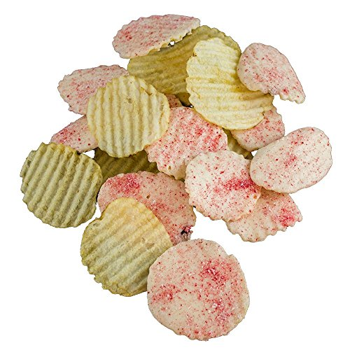 Peppermint Dusted White Chocolate Covered Potato Chips