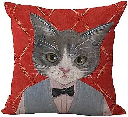 Cartoon Cat Polyester Throw Waist Pillow Case Cushion Cover Home Sofa Decor 18/'/'