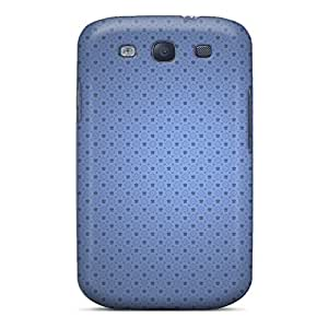 New Galaxy S3 Case Cover Casing(plain Perforated Blue)