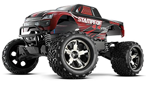 Stampede Monster Truck - Traxxas Automobile 67086-4 Stampede 4X4 1/10 Monster Truck with Tqi 2.4GHz Radio/Tsm, Red