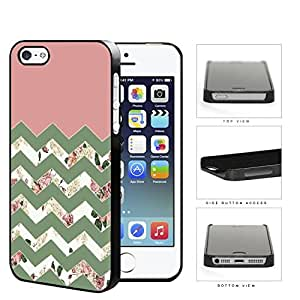 Pink Floral Chevron Design Hard Plastic Snap On Cell Phone Case Apple iPhone 5 5s
