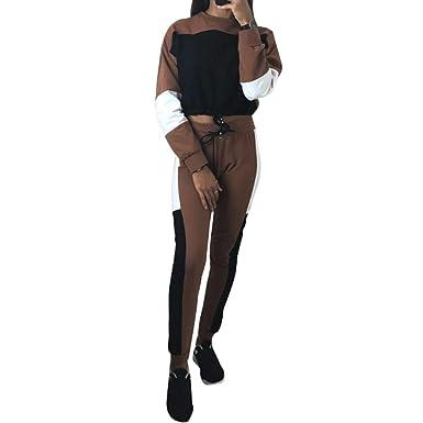 Survêtements pour Femmes Sweats à Capuche Sweat-Shirt + Pantalon Habit de  Sport Ensemble de 06050f75c8a
