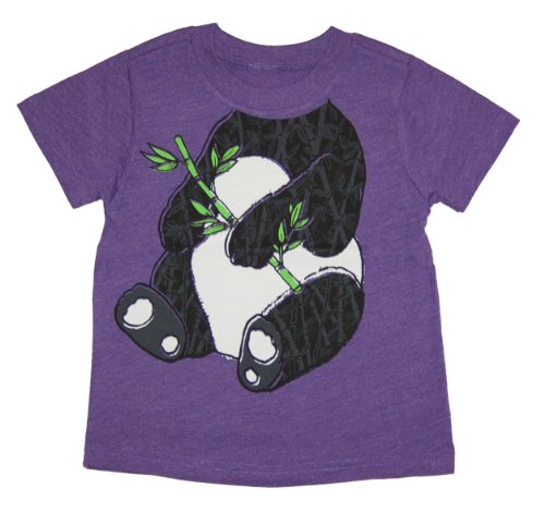 Peek-A-Zoo Infant Baby Become an Animal Short Sleeve T shirt - Panda Purple Heather (12/18 MONTHS)