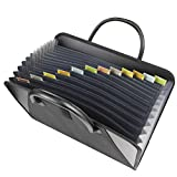 C-line Expanding File With Handles -Letter -8.50-Inch x11-Inch -300 Sheet Capacity -13 Pockets -12 Dividers -Black -1 Each