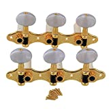 Yibuy Gold Classical Guitar Shaft Machine Heads 3+3 Tuners for Nylon Strings