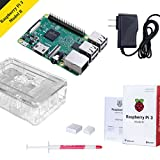 Raspberry Pi 3 Starter Kit with Raspberry Pi 3 Model B Case, Heatsink and Power Supply