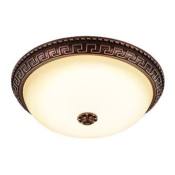 Deckenleuchten wohnzimmer klassisch  MENGKE LED Retro Deckenleuchte Dimmbare Lampe Dreifarbige ...