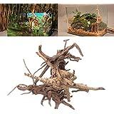 "Yumian Fish Tank Wood Decorations - Wood Natural Trunk Driftwood Tree Aquarium Fish Tank Plant Stump Ornament Decor - 1 pcs Aquarium decoration for Fish Tank (Large/11.02"")"