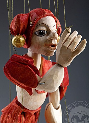 Jester Hand Carved Marionette Puppet M Size
